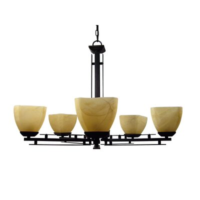 Yosemite Home Decor Half Dome 5 Light Chandelier