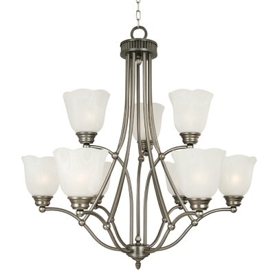 Mahogany 9 Light Chandelier