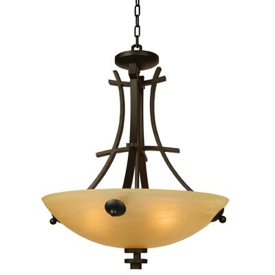 Yosemite Home Decor Sentinel 4 Light Foyer Inverted Pendant