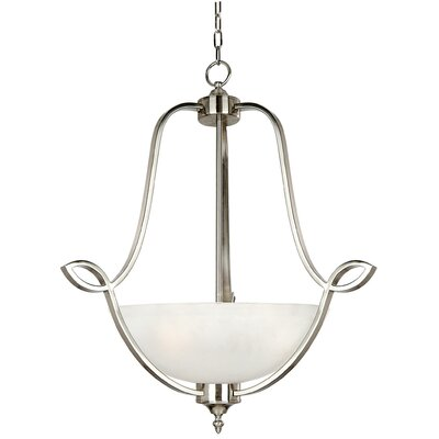 Yosemite Home Decor Vernal Falls 3 Light Foyer Inverted Pendant