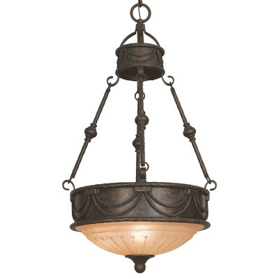 Yosemite Home Decor Isabella 3 Light Foyer Inverted Pendant