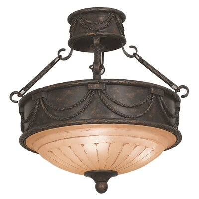 Yosemite Home Decor Isabella 3 Light Semi Flush Mount