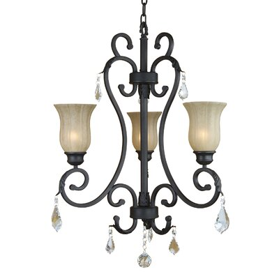 Yosemite Home Decor Jessica 3 Light  Chandelier