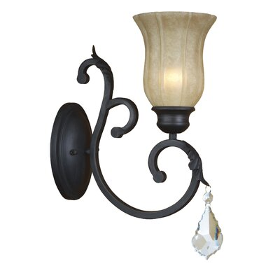 Yosemite Home Decor Jessica 1 Light Wall Sconce
