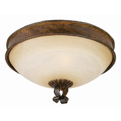 Yosemite Home Decor McKensi 3 Light Flush Mount