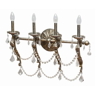 Yosemite Home Decor Swag 4 Light Vanity Light