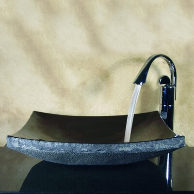 Yosemite Home Decor Hand Carved Zen Cut Vessel Bathroom Sink