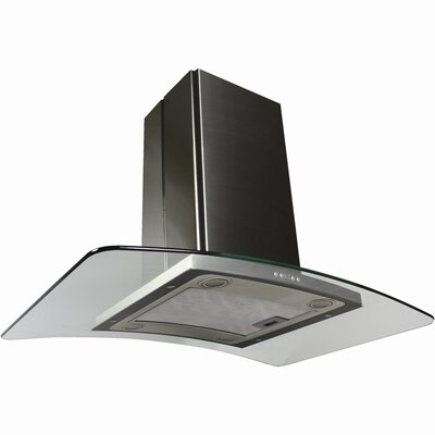 Contemporary Series Stainless Arched Glass Island Range Hood