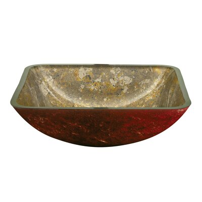 Yosemite Home Decor Square Glass Bathroom Sink - LOGAN Square creamy