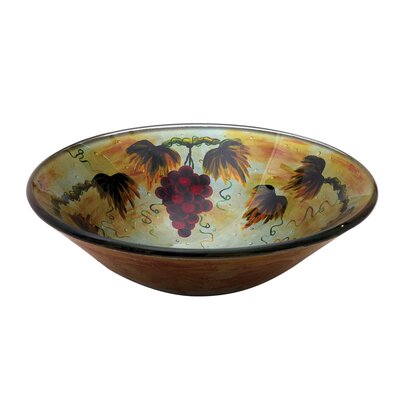 Yosemite Home Decor Grape Fruit Round Glass Bathroom Sink