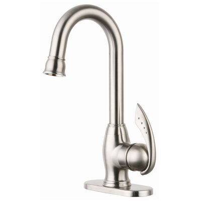 Deck Mount Bar Faucet with Base Plate and Single Handle