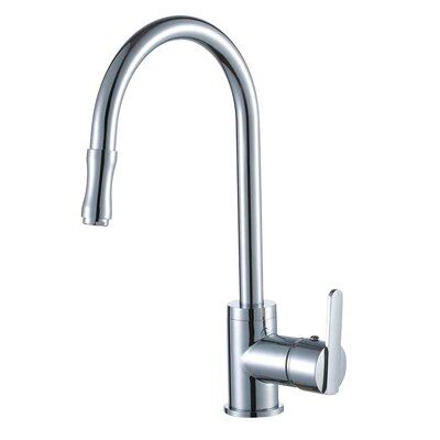 Single Handle Single Hole Kitchen Faucet with Pull-out Sprayer and Base Plate