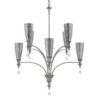 Capiz 8 Light Crystal Chandelier