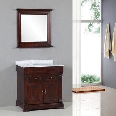 "Yosemite Home Decor Transitional 31"" Single Standard Bathroom Vanity Set"