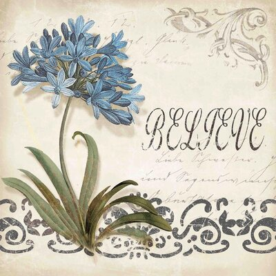 Cerulean Agapanthus Canvas Art