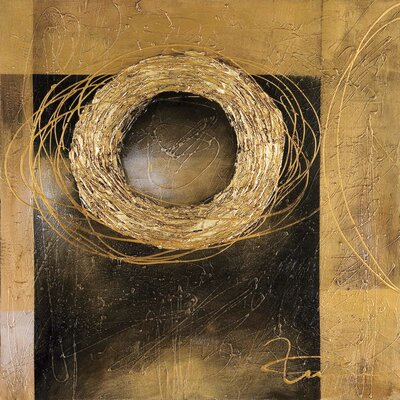 New Artwork Golden Ring Original Painting on Canvas