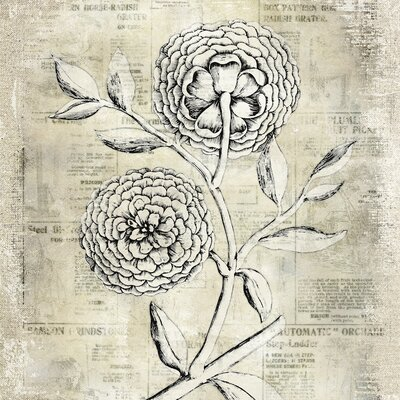 Yosemite Home Decor Antiqued Bloom II Canvas Wall Art