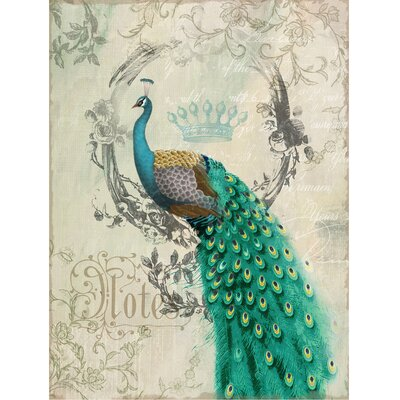 Yosemite Home Decor Peacock Poise II Canvas Wall Art