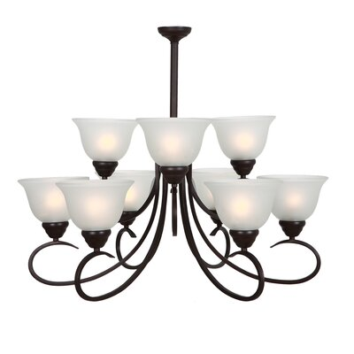 Yosemite Home Decor Aulin 9 Light Chandelier