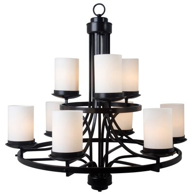 Columbia Rock 9 Light Chandelier