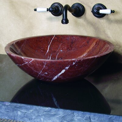 Emily Hand Carved Round Vessel Bathroom Sink - EMILY