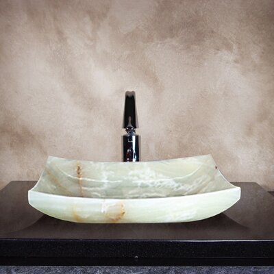Yosemite Home Decor Hannah Hand Carved Vessel Bathroom Sink