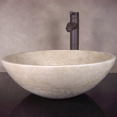 Hand Carved Classic Round Vessel Bathroom Sink - MARIA