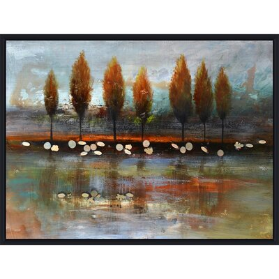 Revealed Artwork Autumn Reflection Canvas Wall Art