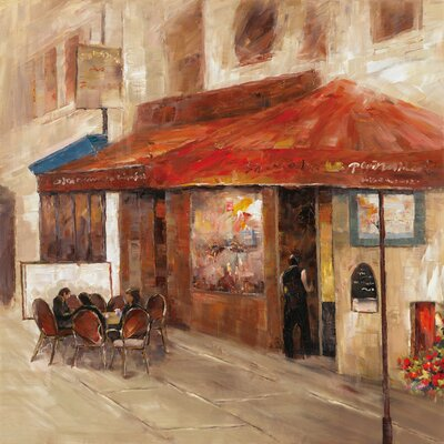 Revealed Artwork Outdoor Dining I Original Painting on Canvas