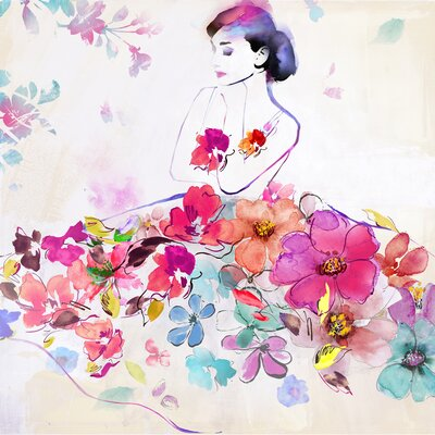 Revealed Artwork Dressed In Flowers I Painting Print on Canvas