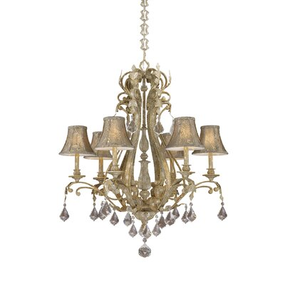 Vaxcel Empire 6 Light Chandelier