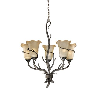 Vaxcel Monterey 5 Light Chandelier
