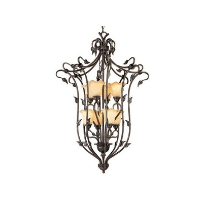 Vaxcel Vine 8 Light Foyer Pendant