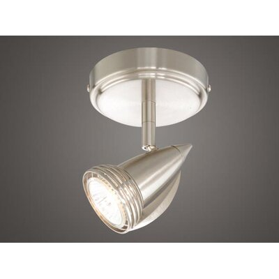 Vaxcel Single Spot Light in Satin Nickel