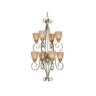 Vaxcel Mont Blanc 8 Light Chandelier