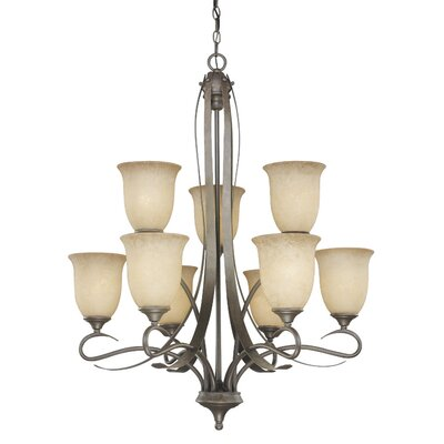 Vaxcel Esprit 9 Light Chandelier