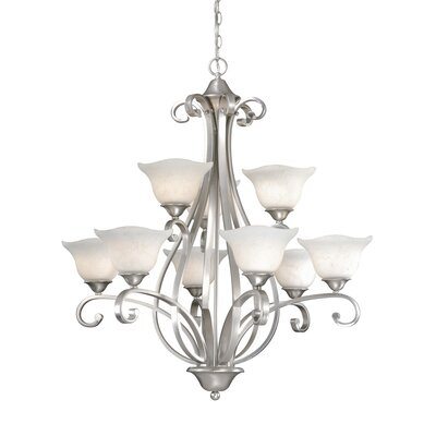 Vaxcel Caspian 9 Light Chandelier