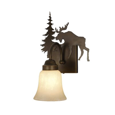 Vaxcel Yellowstone Indoor 1 Light Wall Sconce with Glass Shade