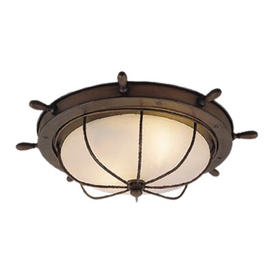 Vaxcel Nautical 2 Light Outdoor Flush Mount
