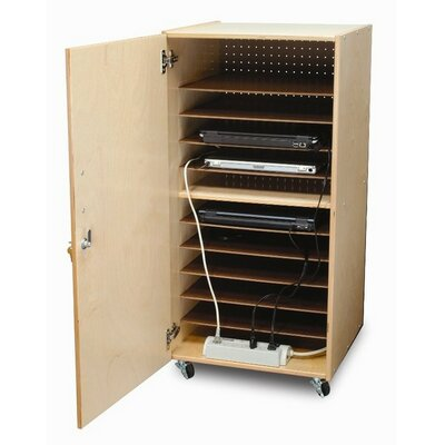 Whitney Brothers 10-Compartment Single Laptop Security Cabinet