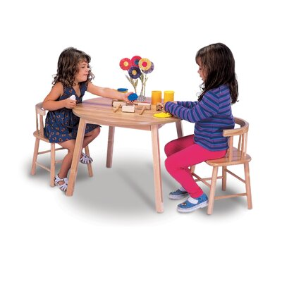 Whitney Brothers Kids' 3 Piece Round Table and Chair Set