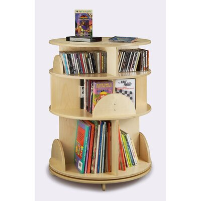 "Whitney Brothers 32"" H Three Shelf Multimedia Carousel"