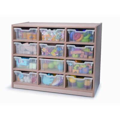 Whitney Brothers Twelve Tray Melamine Storage Unit in Maple