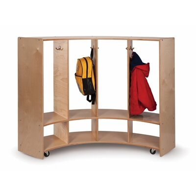 Whitney Brothers Curve In/Curve Out Coat Locker