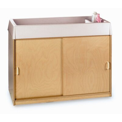 Whitney Brothers Changing and Storage Cabinet with Easy-Wash Top