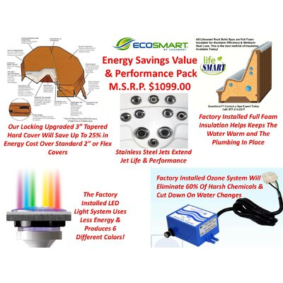 Lifesmart Lifesmart Rock Solid Sierra Plug and Play Spa w/20 Jets Includes FREE Energy Savings Value & Performance Package