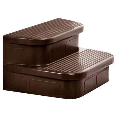 Lifesmart Matching Mahogany Spa Steps for The Rock Solid Grandmaster, Hydromaster and Jewel Spa
