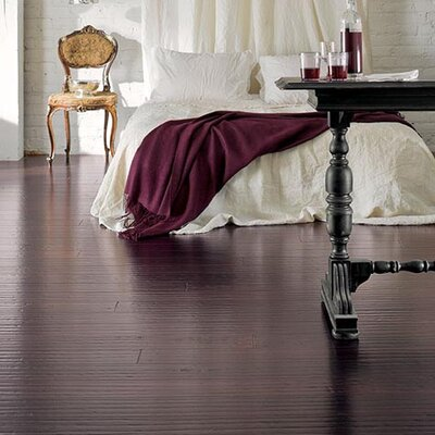 "Teragren Portfolio 5"" Engineered Self-Locking Handscraped Bamboo Flooring in Hewn Port"