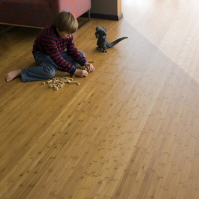 "Teragren Studio Floating Floor 7-11/16"" Horizontal Bamboo Flooring in Caramelized"
