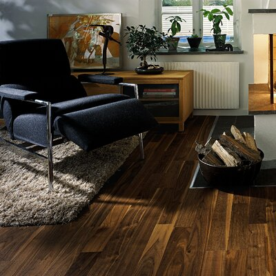 "Kahrs Linnea 1-Strip 4-5/8"" Engineered Walnut City Flooring"